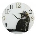 Horloge chaton tigré